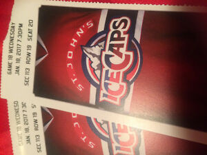 Ice cap tickets Jan 17