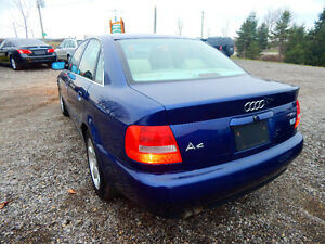 2001 Audi A4 Quattro Luxury Sedan Mint Low miles No Rust! London Ontario image 3