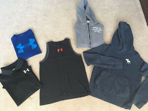 Collection of Boys Under Armour and Abercrombie & Fitch Clothing