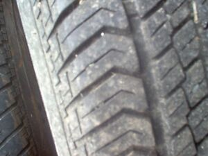 TIRES FOR SALE ON ALUMINUM RIMS
