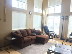 Two Level Furnished Loft Downtown $2350 1 br