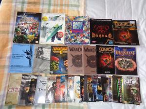 Guides et manuels pour jeux console et ordinateur