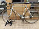 "Monzu 501 Vintage Road Racing Bike 23"" Frame Size (Extra Large).  700cc Wheels White racing bike"