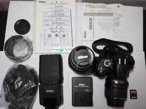 Nikon D3200 + 18-55mm lens (kit) + 55-300mm lens + More