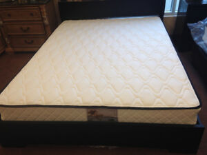 Brand new Queen mattress $150, Used Q boxspring $50