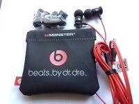 100% AUTHENTIC MONSTER BEATS URBEATS BY DR DRE IN EAR BLACK HEADPHONES EARPHONES