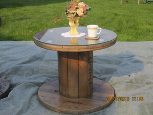 For Sale: Beautiful varnished wood cable spool coffee tables Belleville Belleville Area image 5