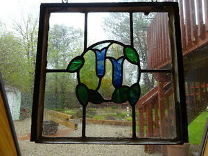 Antique Stained Glass From England - Circa 1920