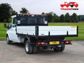 14 FORD TRANSIT 2.2 TDCI 350 125ps Long Wheel Base Double Cab Tipper DIESEL MA