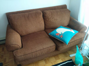 2 canapés marrons / 2 brown couches - free - gratuit