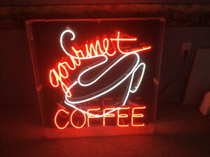 Neon Gourmet Coffee sign for sale