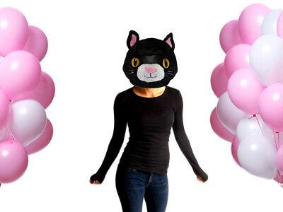 NEW Wild & Soft Cat Plush Animal Head Mascot Costume Kids Party xmas