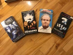 Vhs films 4 pour 5$