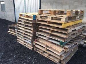 "WOOD SKIDS / WOOD PALLETS - ALL IN GREAT SHAPE -40""X48"""