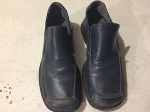Men's Blue Leather Shoes