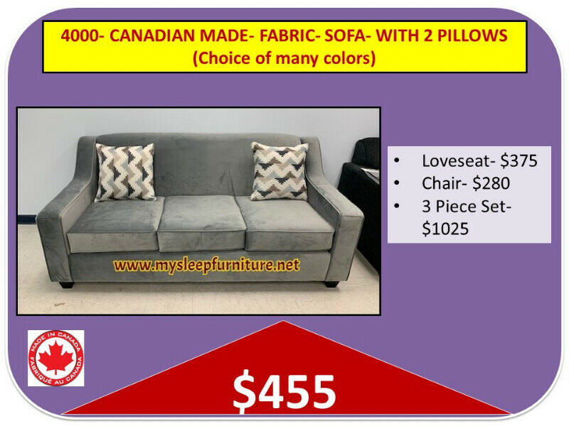 Brand New Canadian Made Sofas Sectionals Delivery 25