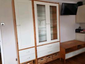 Matching TV unit, glass unit and tall unit