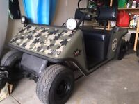 Golf cart Jeep badge camouflage