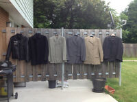 Selling gently used men clothing..