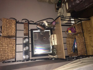 Black Iron Bakers Rack with Multiple Shelves