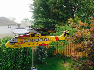Hand-crafted CH-149 Comorant Helicopter Whirlybird