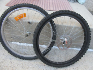 2 - 24 INCH TIRES & RIMS - FRONT DISC