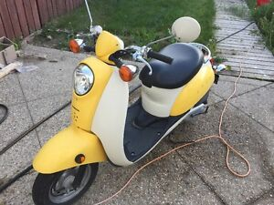 Yellow/White Scooter