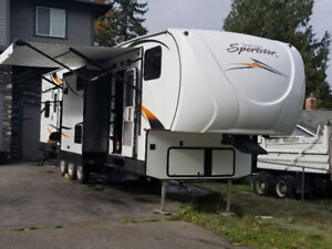 Toy hauler with outdoor kitchen!