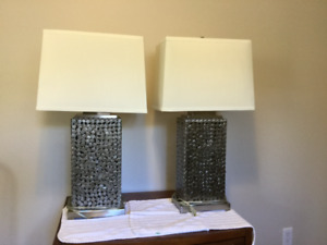 Brushed Nickel table lamps