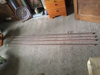 Copper curtain poles x 4