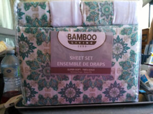 NEW 6 PC SHEET SET KING AND QUEEN SIZE AVAILABLE GREEN
