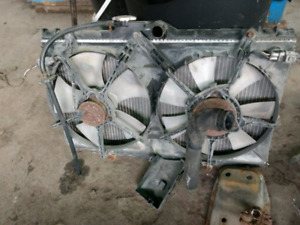 Radiator with fans Toyota Corolla 1998-2002