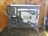 """Antique """"Pearl"""" wood cookstove"""