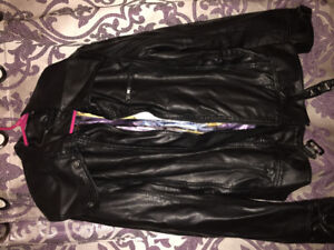 Faux leather jacket from Le Chateau