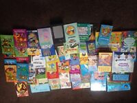 job lot car boot collection 54 children's books mr men potter boys girls kids disney beast quest