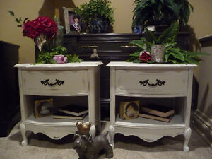 Lovely Set of French Provincial Night Tables
