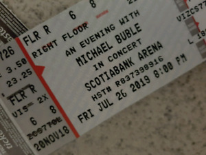 Michael Buble Scotia Bank July 26th. Floor Row 6