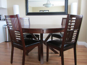 Modern Wood Round Dining Room Set  MUST SELL