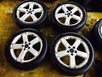 "17"" GENUINE BORBET FORD FOCUS ALLOY WHEELS SET OF 4 MONDEO GALAXY"