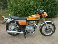 YAMAHA XS 650, 1973, 9,180 MILES, ORIGINAL UK MODEL IN VERY CLEAN CONDITION.