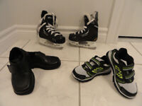 NEW! TODDLER DRESS SHOES, SNEAKERS AND BAUER   SKATES FOR BOYS