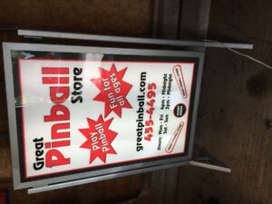 Lighted Freestanding Pinball Store Sign for Sale