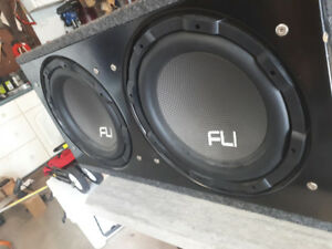 2x12 inch Subs with 1000w amp