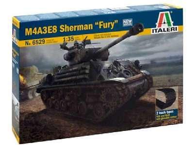 Italeri 6529 M4A3E8 Sherman Fury Tank 1/35 New Armor Model Kit 8001283065290