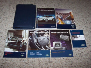 Land Rover Range Rover Evoque Factory User Owner's Manual