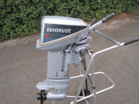1986 Evinrude 9.9hp with gas tank