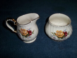Sadler Bone China Cream and Sugar Set