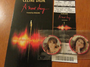 CELINE DION - 2 Jetons de poker + livre A New Day