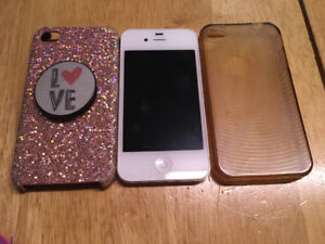 I phone 4s in great condition with 2 cases