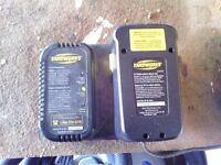 Yardworks rechargeable battery and charger